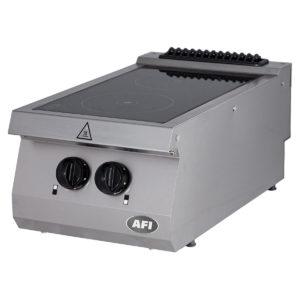 Fourneau électrique gamme700, 2 plaques victrocéramiques infrarouges à poser