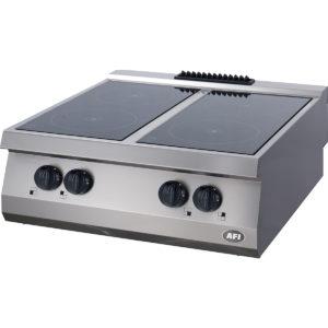 Fourneau électrique gamme 700, 4 plaques victrocéramiques infrarouges à poser
